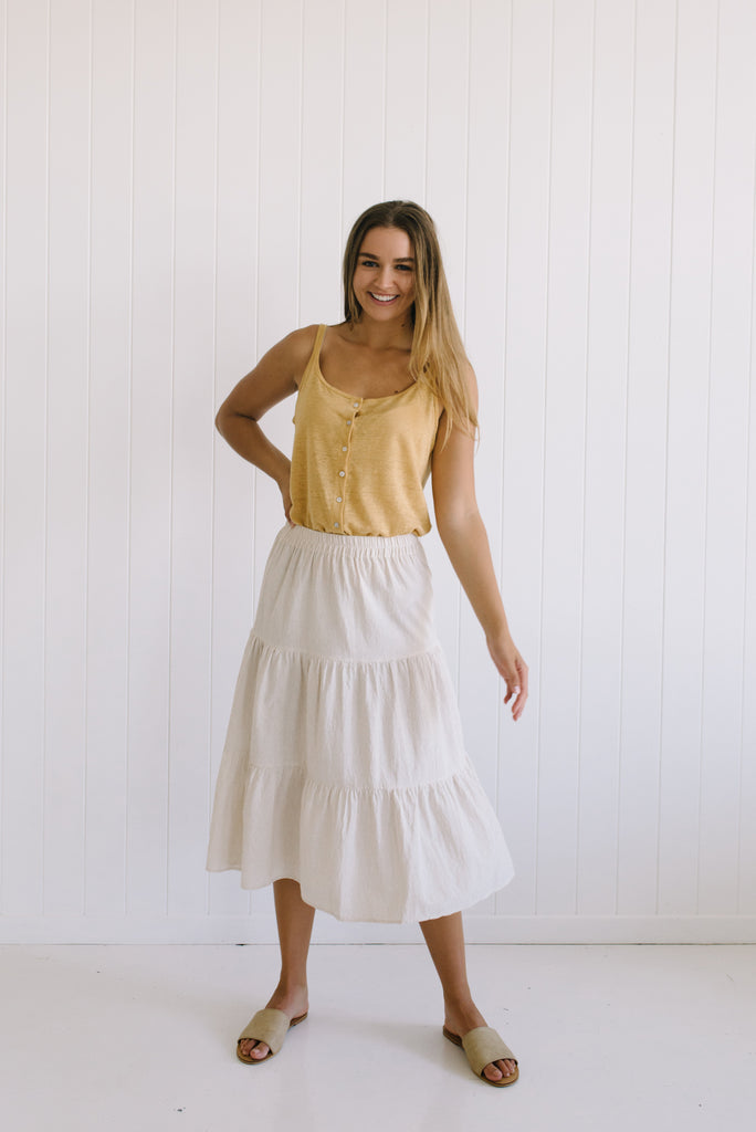 Audrey Linen Skirt - Betty Lane