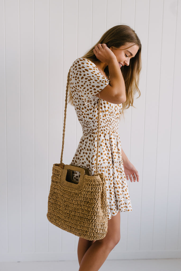 South Beach Woven Bag - Sand