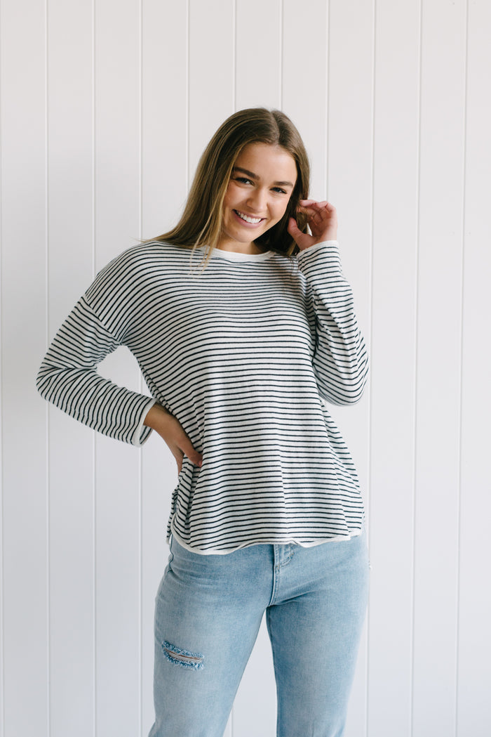 Lola Knit - Black Stripe