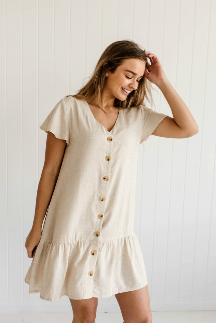 Daisy Drop Dress - Sand