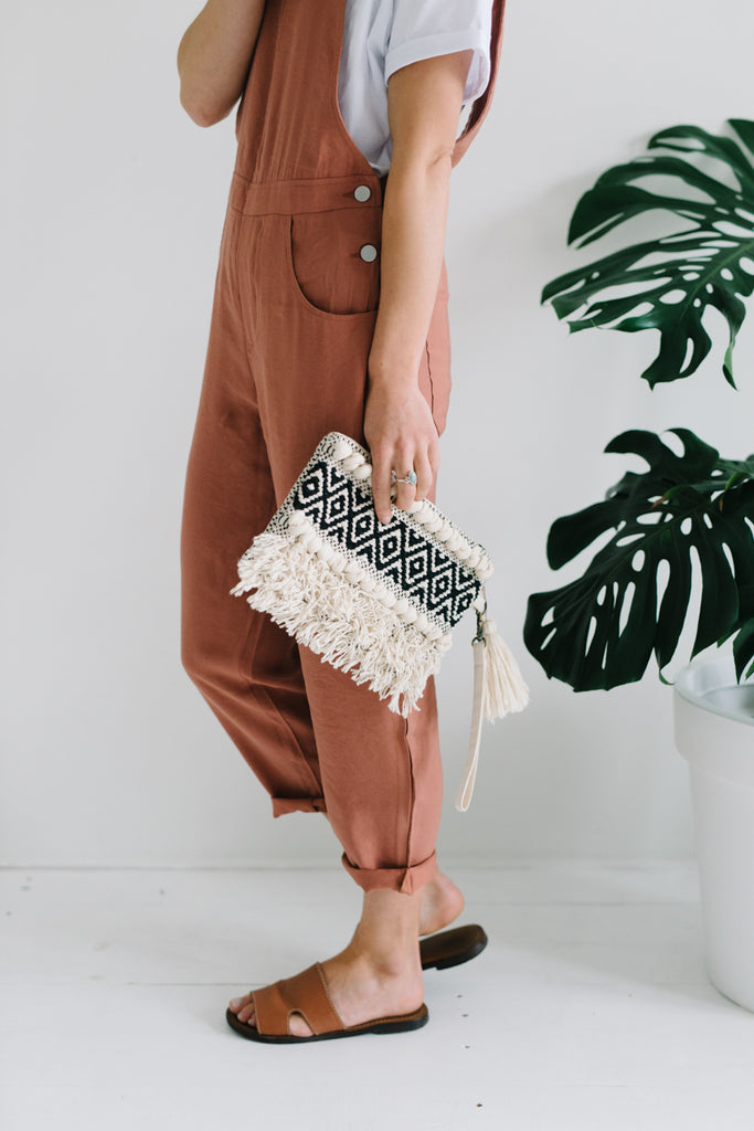Boho Tassel Clutch|  | Betty Lane Womens Clothing Victoria