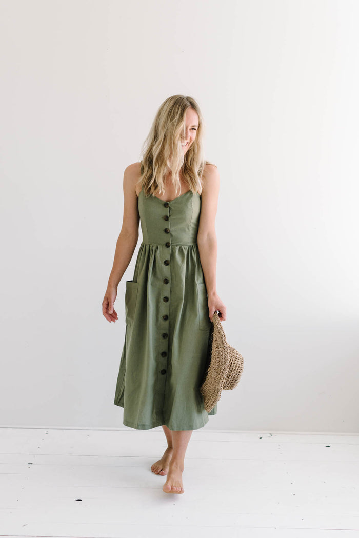 Sandy Dress | Khaki| summer | Betty Lane Womens Clothing Victoria