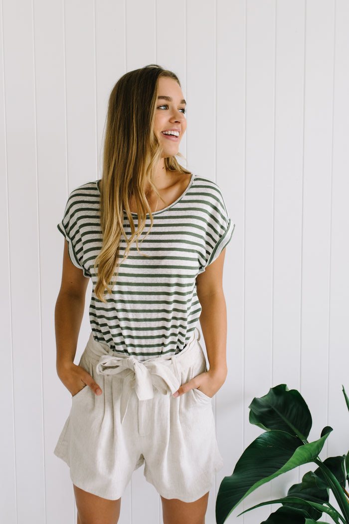 Stripe Lockie Tee - Green