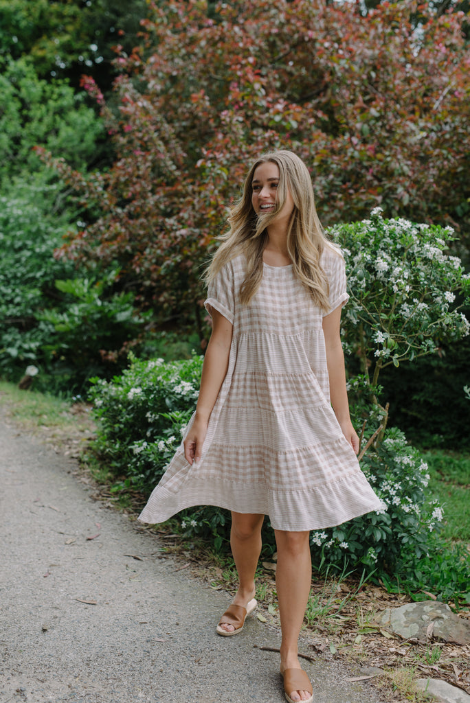 Women's Cotton Check dress