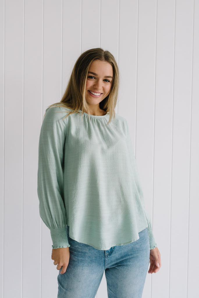 Cherie Blouse - Mint - Betty Lane