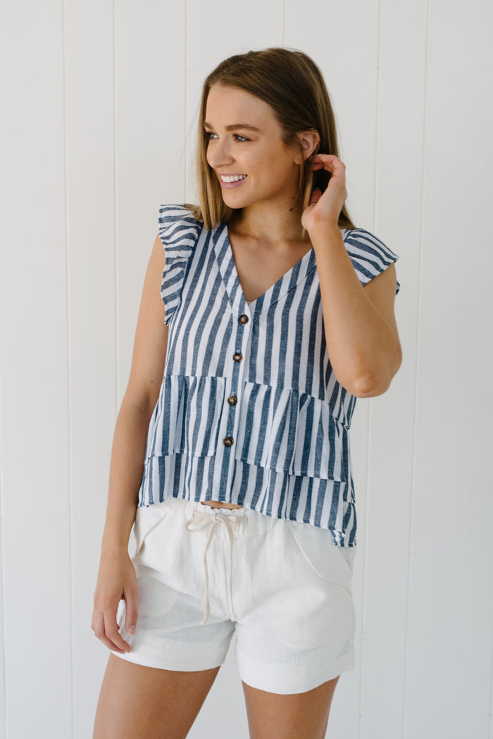 Anchor Stripe Top| Summer | Betty Lane Womens Clothing Victoria