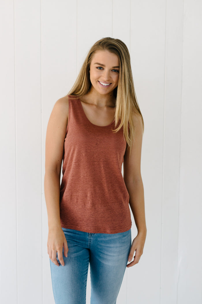 Cove Tank - Rust|  | Betty Lane Womens Clothing Victoria
