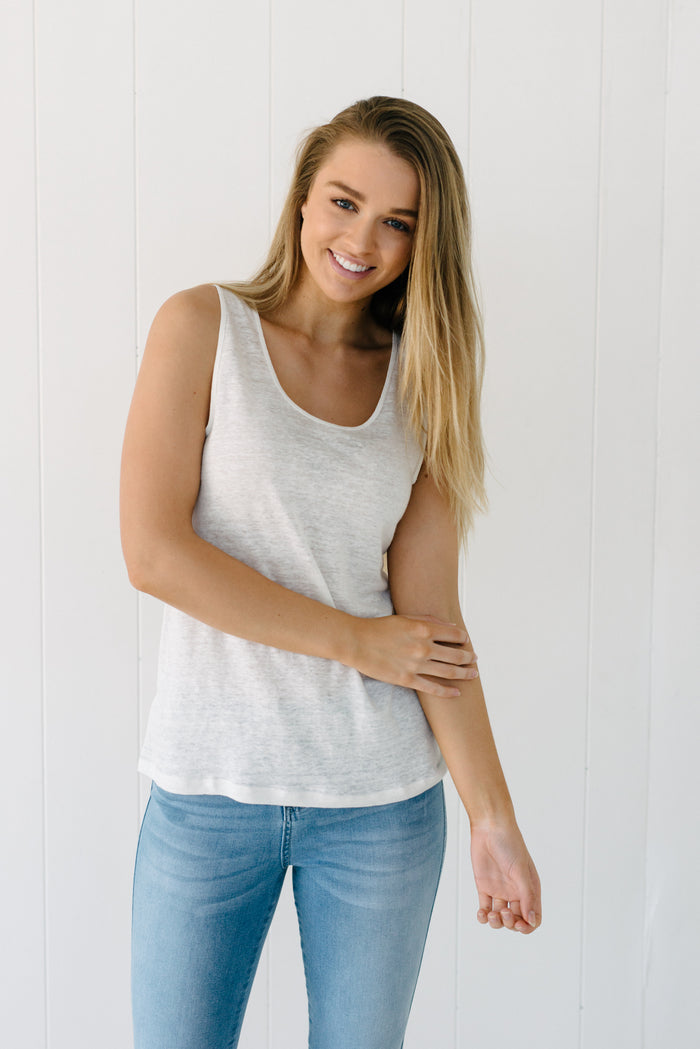 Cove Tank - Ivory|  | Betty Lane Womens Clothing Victoria