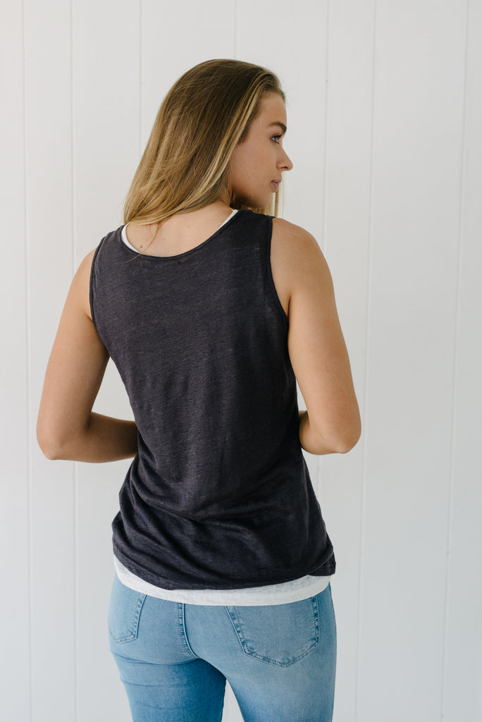 Cove Tank - Slate Blue|  | Betty Lane Womens Clothing Victoria
