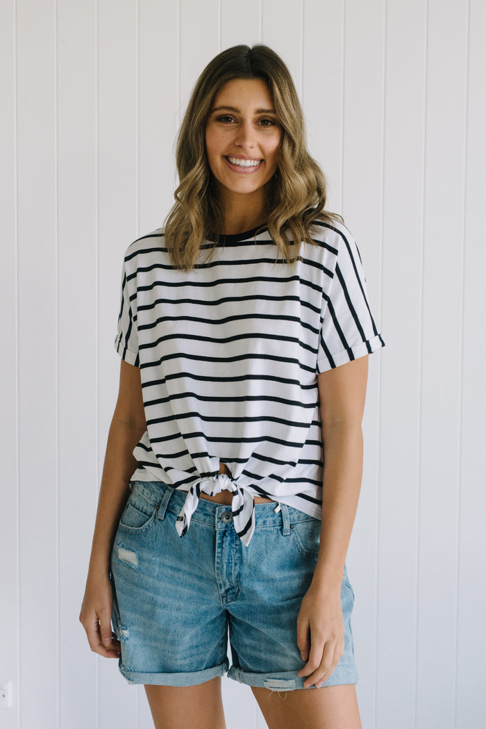 Betty Lane Striped Tee | Betty Basics Tee