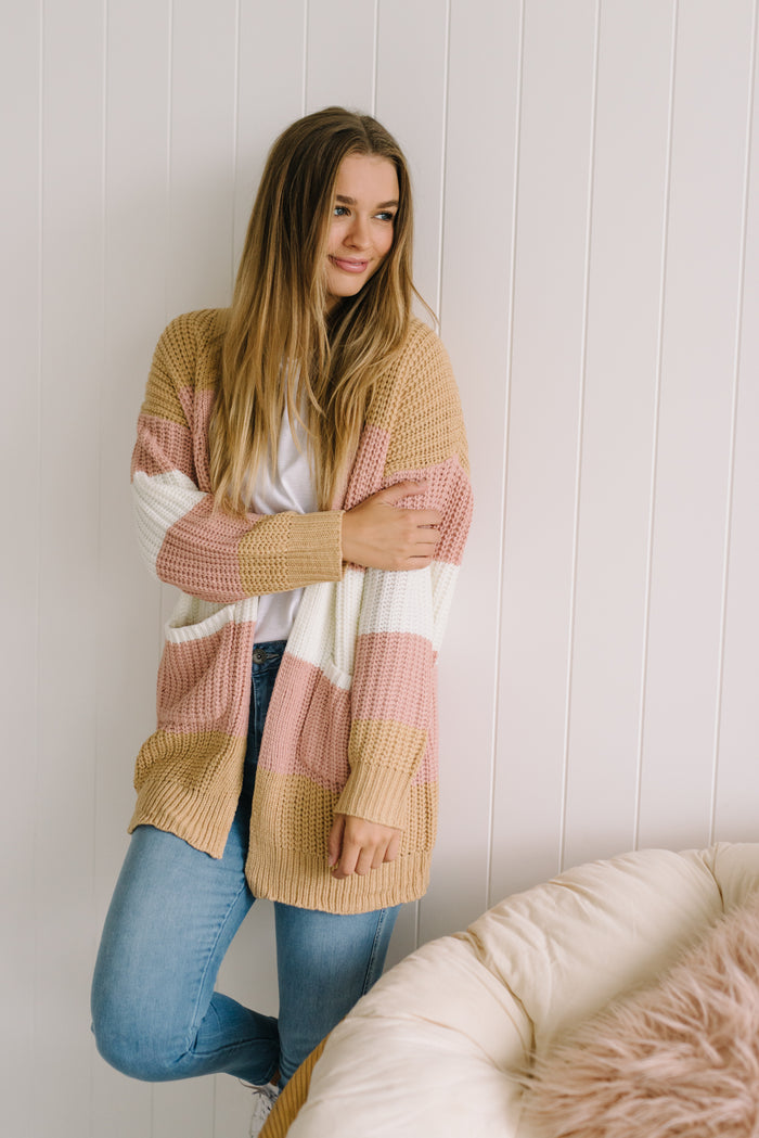 Bailey Stripe Cardi - Betty Lane
