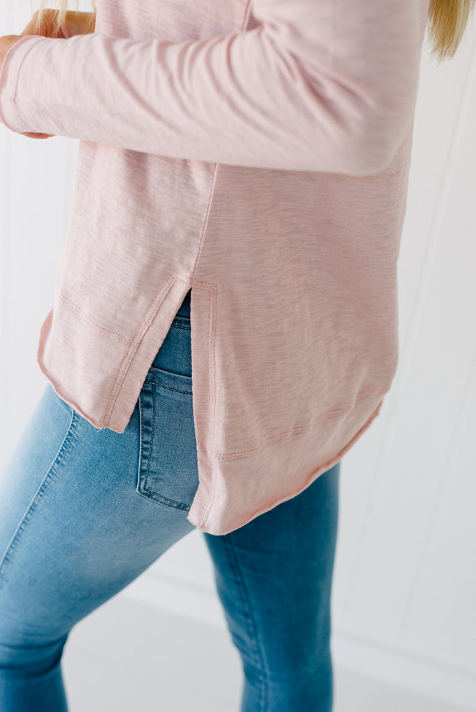 Everyday Long Sleeve Tee - Blush|  | Betty Lane Womens Clothing Victoria