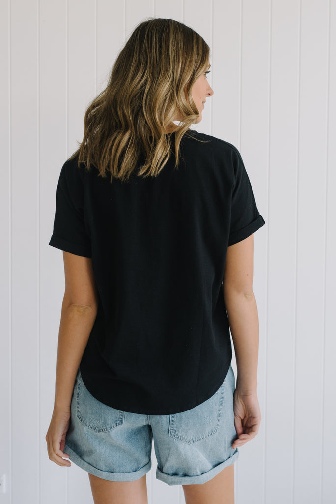Knot So Basic Tee - Black
