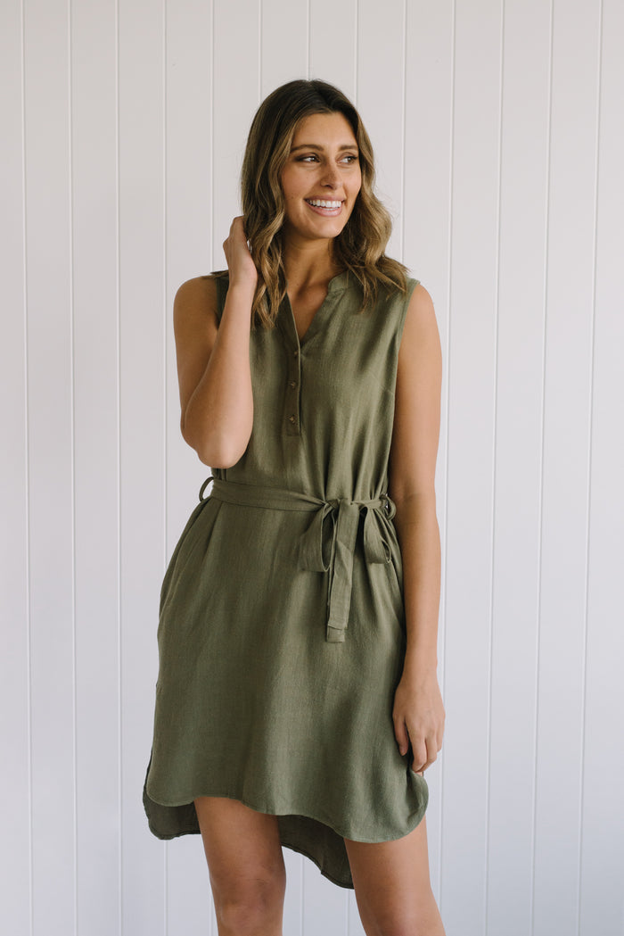 Kace Linen Shirt Dress