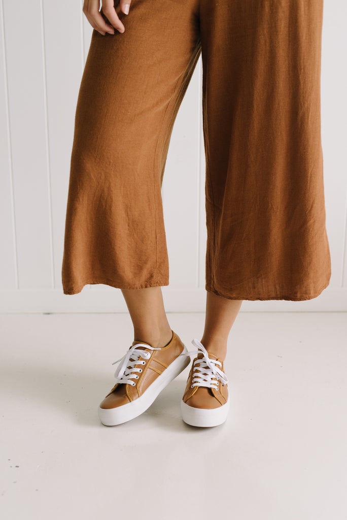 Cass Leather Sneaker - Tan