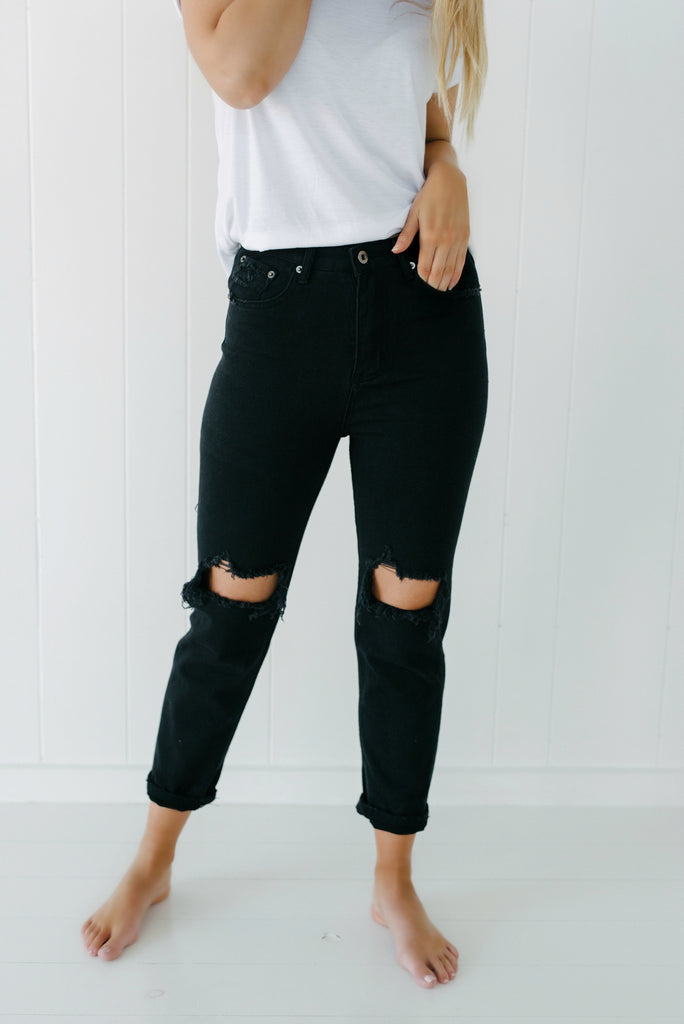 Harley Jeans - Black| Pants | Betty Lane Womens Clothing Victoria