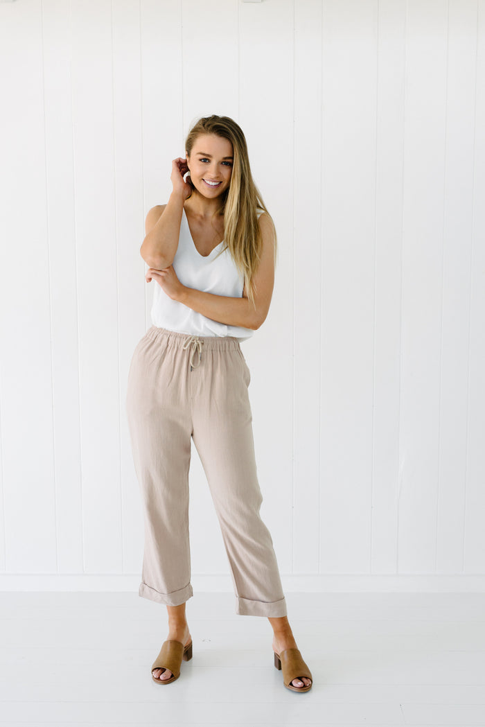 Hendrix Pants - Beige| Pants | Betty Lane Womens Clothing Victoria