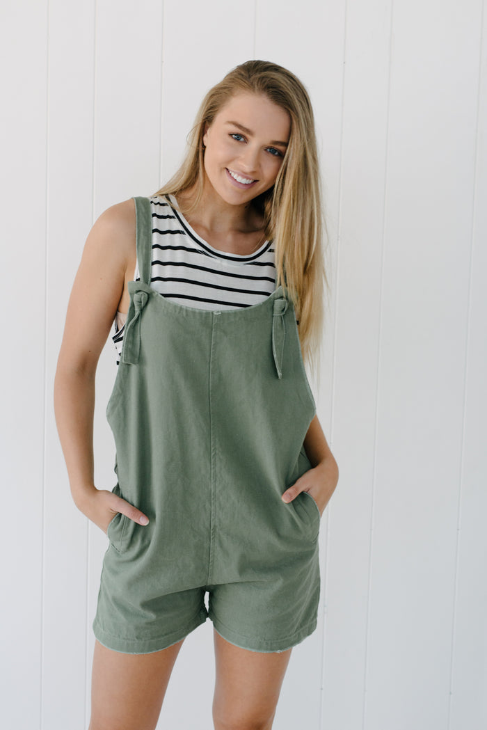 womens green overalls