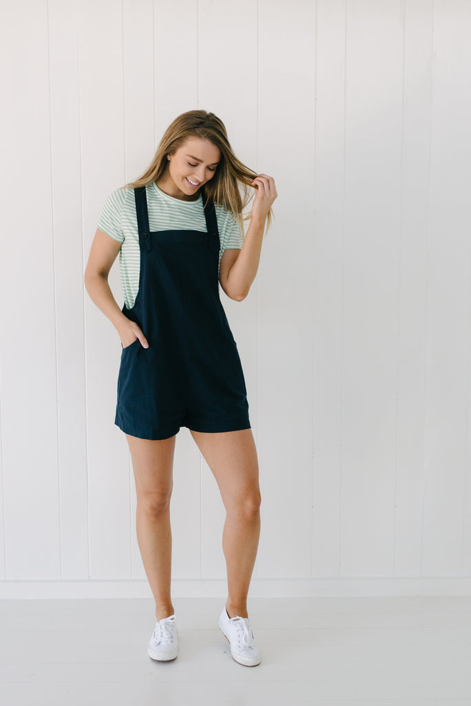 Navy Cotton Overalls