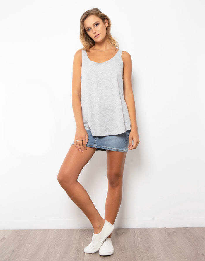 Everyday Tank - Grey|  | Betty Lane Womens Clothing Victoria