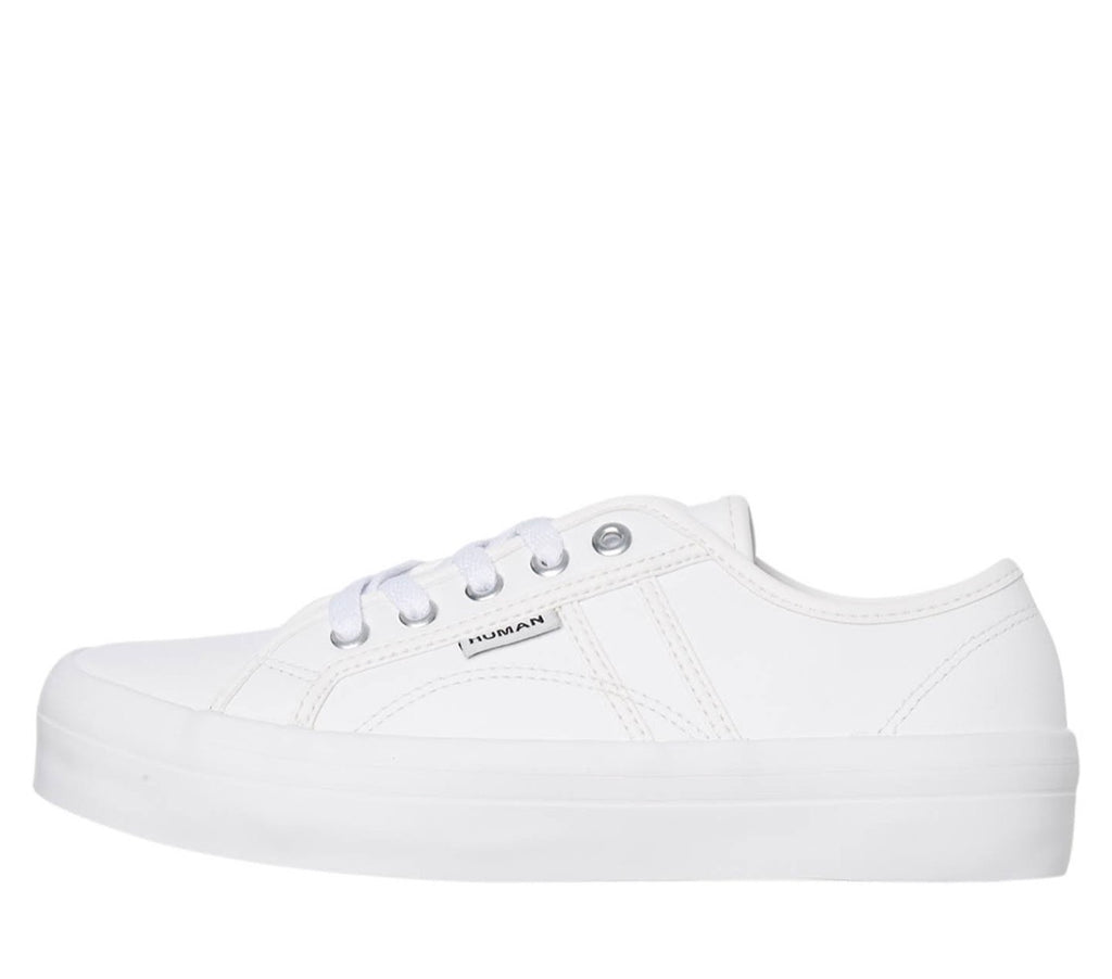 Cass Leather Sneaker - White - Betty Lane