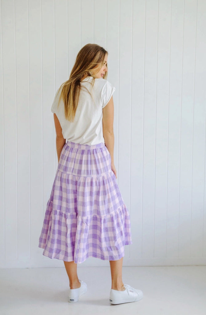 Gracie Gingham Skirt