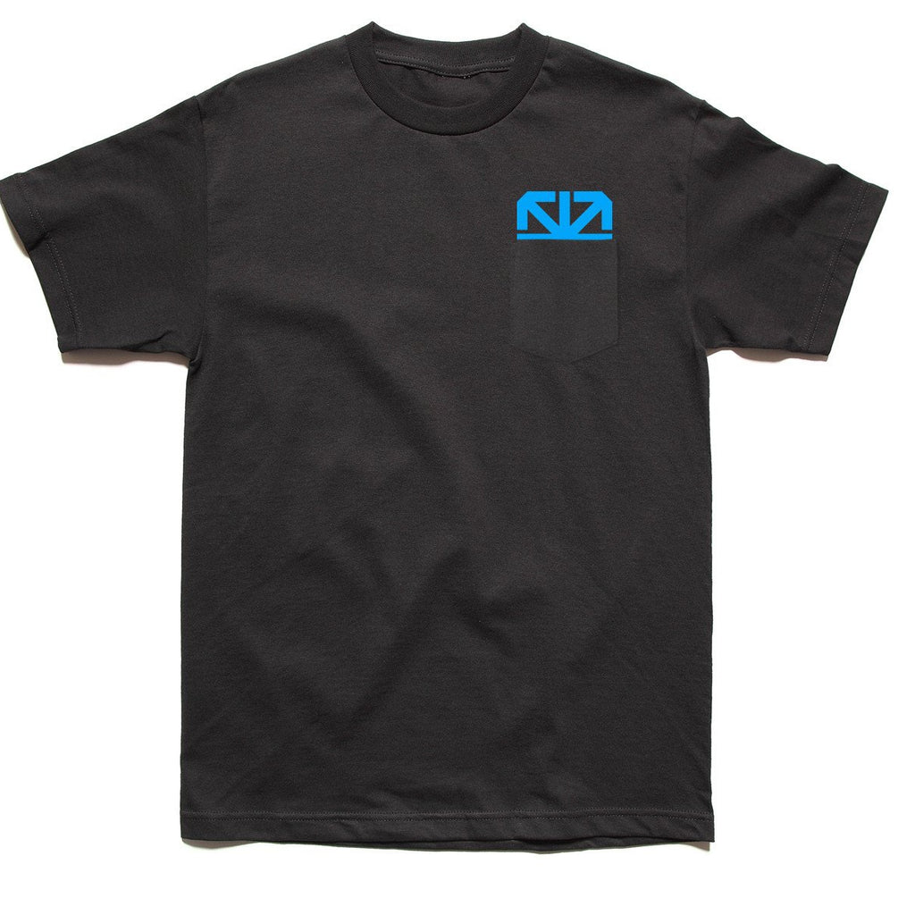 CMYK POCKET T-SHIRT (CYAN)