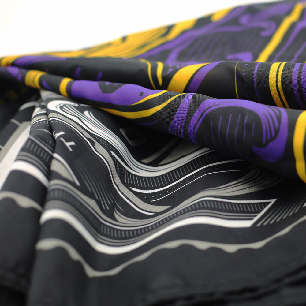 "KKADE x TWFSL OVERSIZED FLAG 48"" x 48"" (PURPLE / GOLD)"