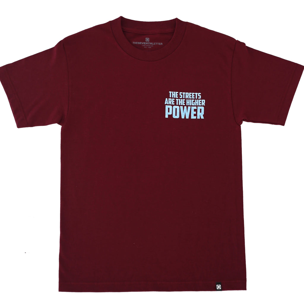 POWER TEE BURGANDY