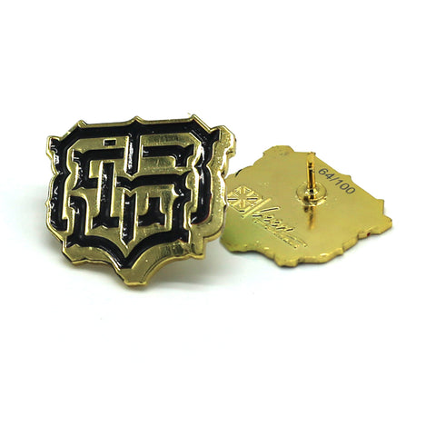 KKADE X TSL MONOGRAM LAPEL PIN