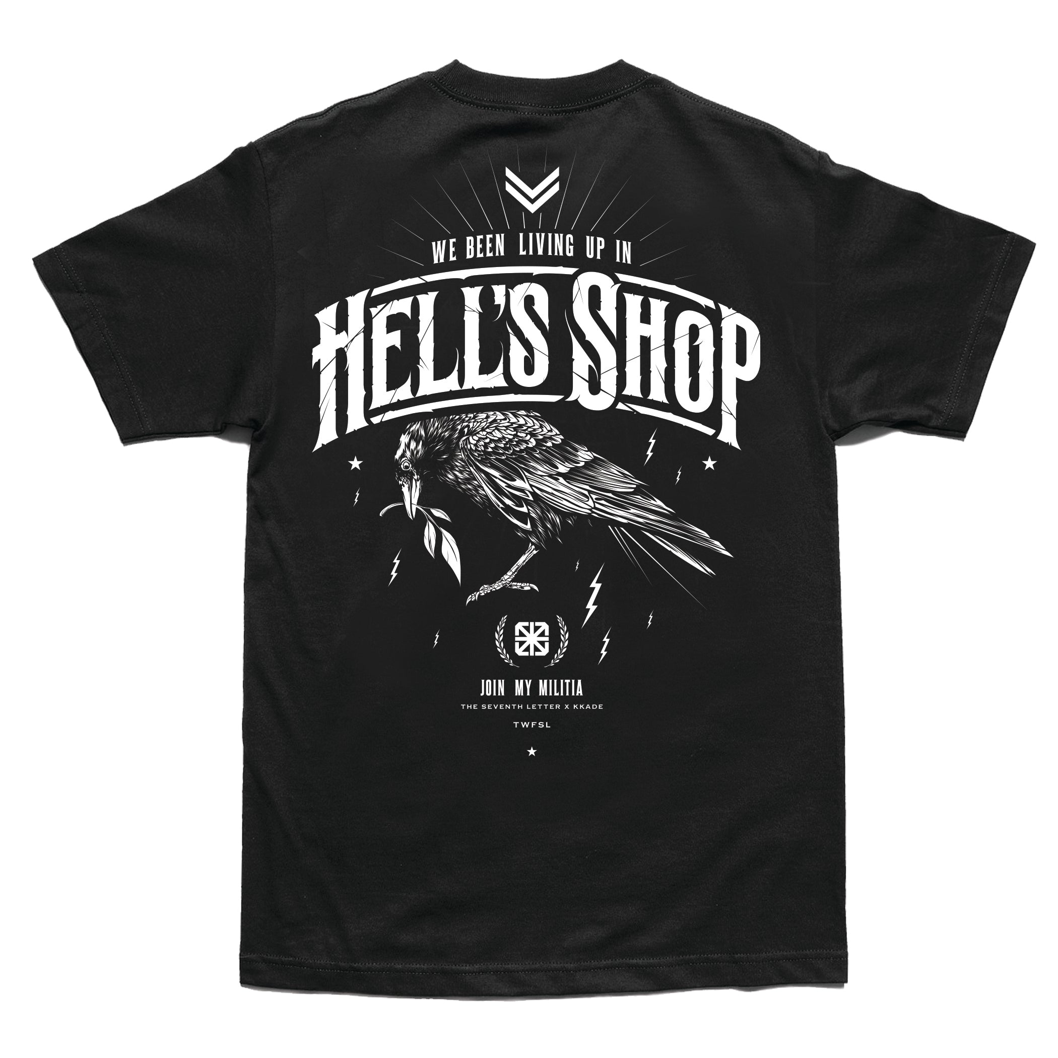 KKADE X TSL HELL'S SHOP T-SHIRT  (BLACK)