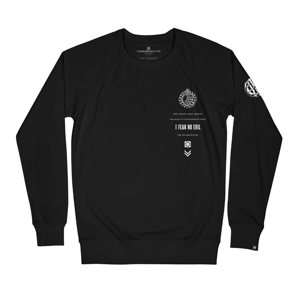 KKADE X TSL FEAR NO EVIL CREWNECK FLEECE (BLACK)