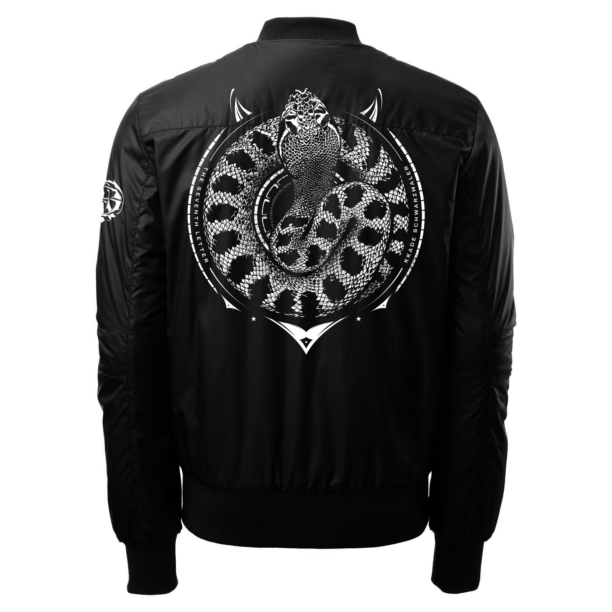 KKADE X TSL FEAR NO EVIL BOMBER JACKET (BLACK)