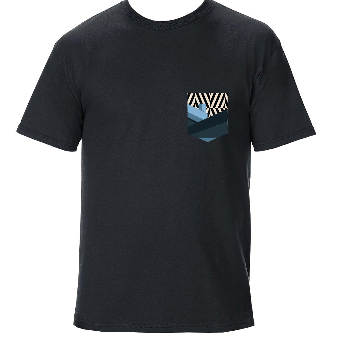 TRAV MSK LIMITED EDITION POCKET T-SHIRT (BLACK / BLUE GRAPHIC)