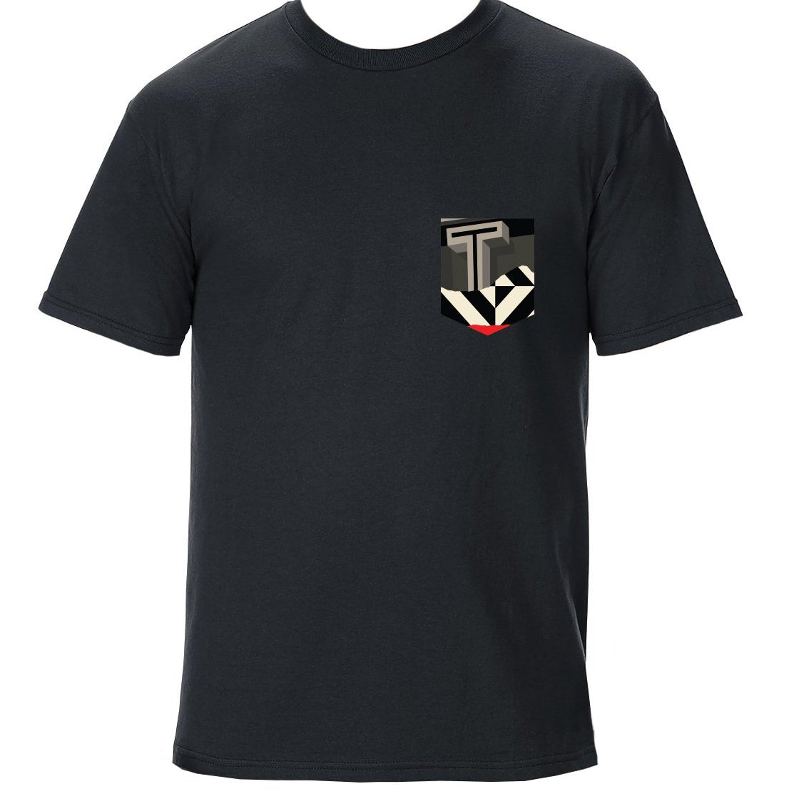 TRAV MSK LIMITED EDITION POCKET T-SHIRT (BLACK / RED T GRAPHIC)