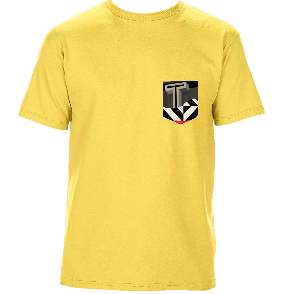 TRAV MSK LIMITED EDITION POCKET T-SHIRT (YELLOW / RED T GRAPHIC)