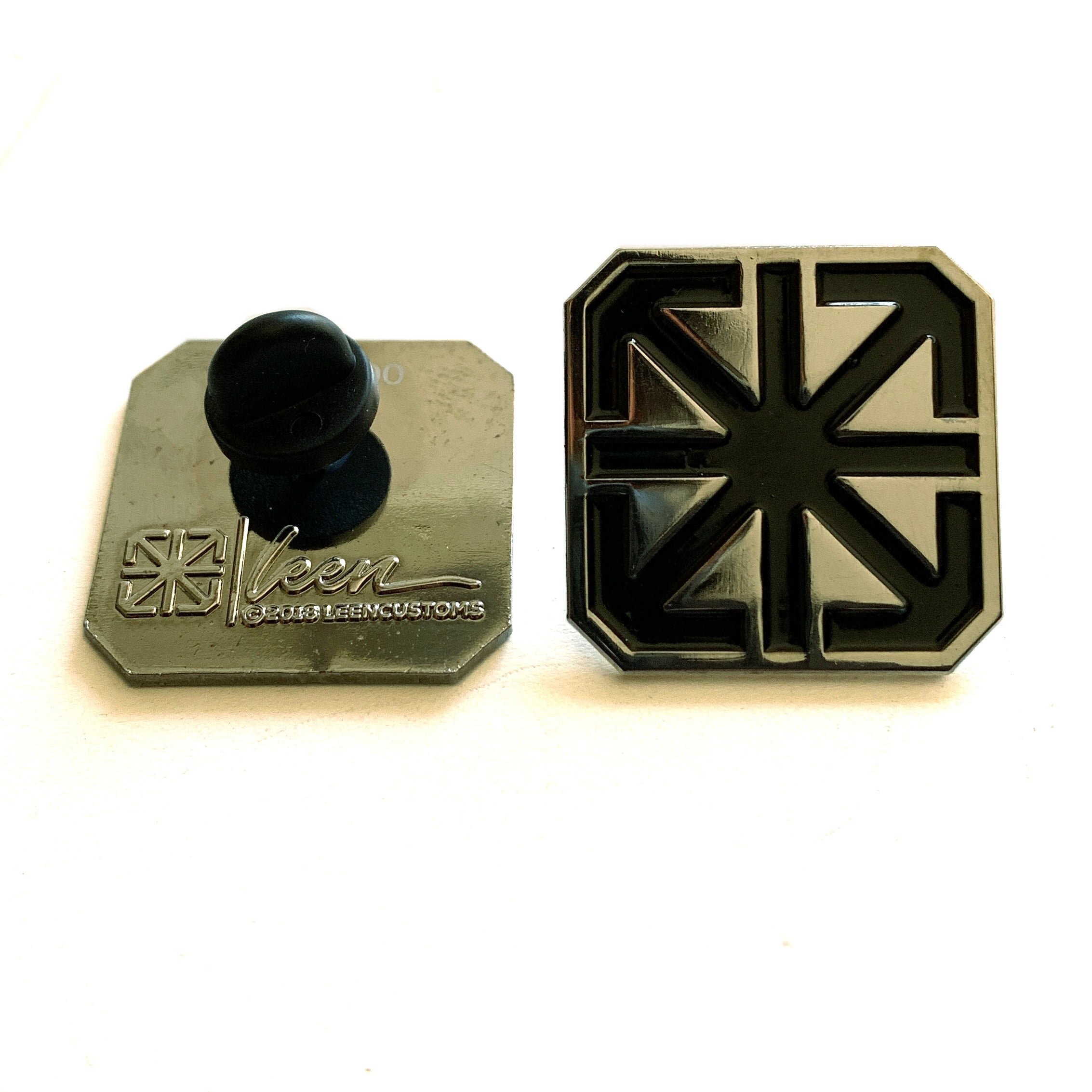 TSL ICON LAPEL PIN / BLACK ON GUN METAL EDITION