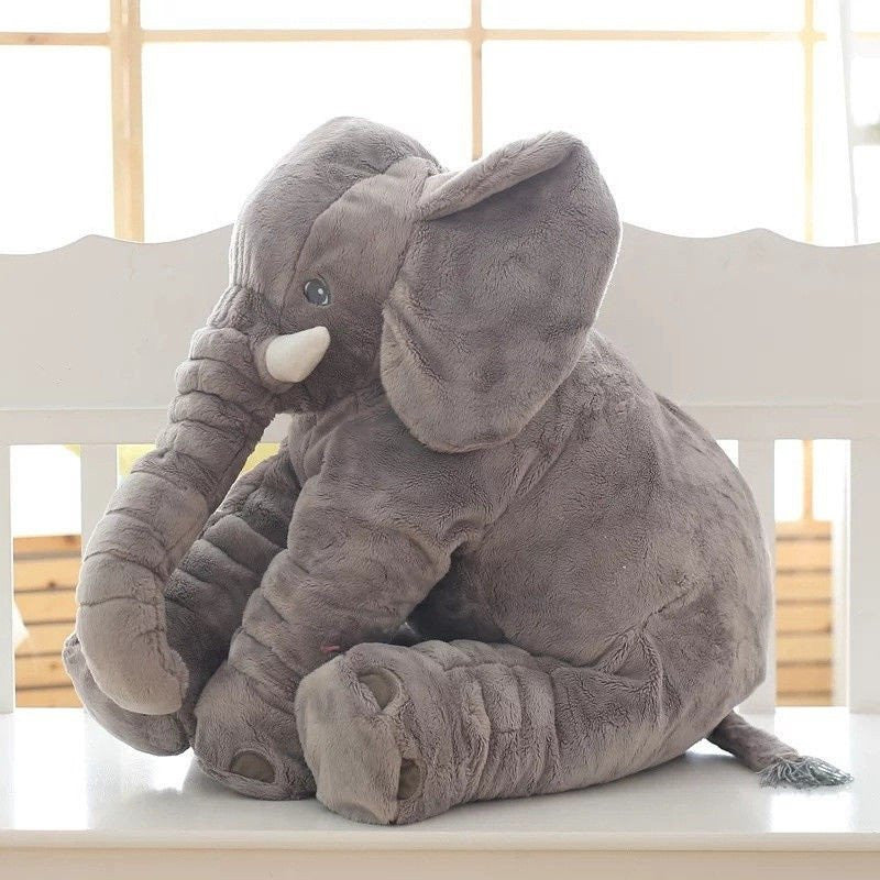 baby children long nose elephant doll pillow soft plush stuff toys lumbar pillow