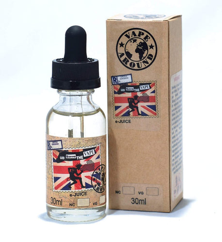 God Save the Vape - creamy strawberries with vanilla custard - E-Liquid from Vape Around New Zealand