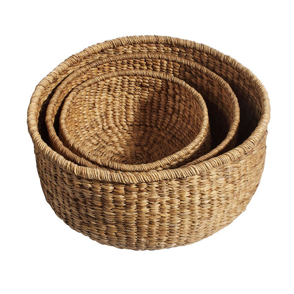 Basket round natural