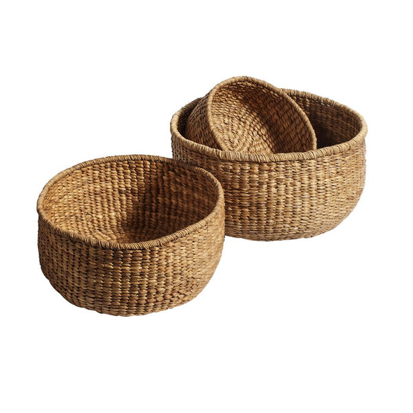 basket braided korv punutud water hyatcinth vesihüatsint natural naturaalne looduslik scandi design practical