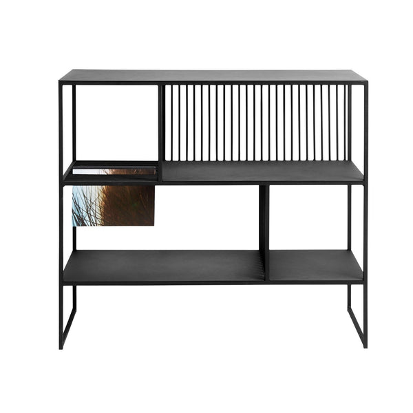 Book shelf black metal