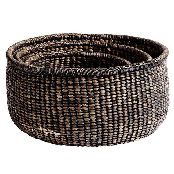 Basket round brown