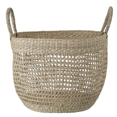 basket seagrass natural braided with handles korv punutud sangadega mererohi bofo scandinavian flower pot