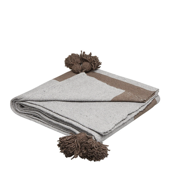 Cotton Blanket Grey 150x150