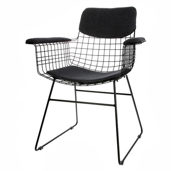 Comfort kit Black for wire chair with arms