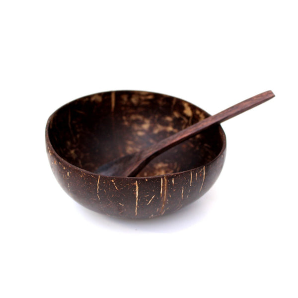 Coconut Bowl with a Spoon