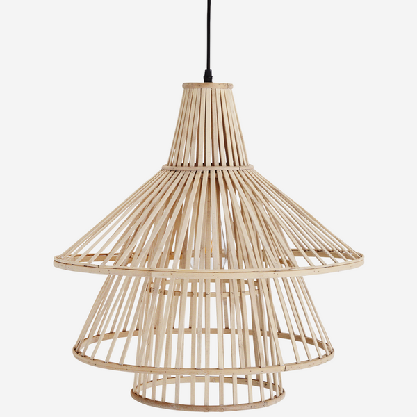 bamboo ceiling lamp natural bambusest laelamp scandi design airy õhuline