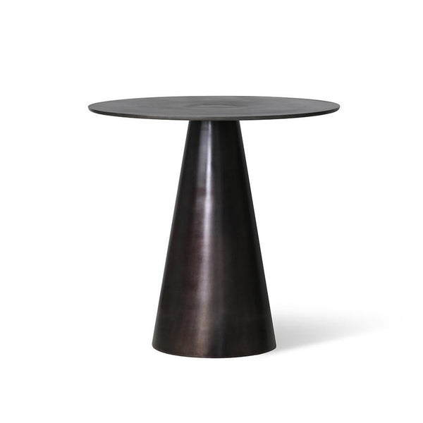 Black Metal Side Table D49cm