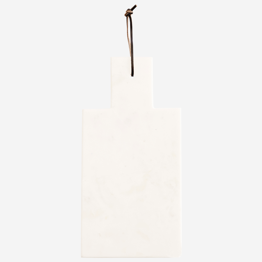 marble chopping board cutting board serving board  white with leather strap decorative lõikelaus marmor valge